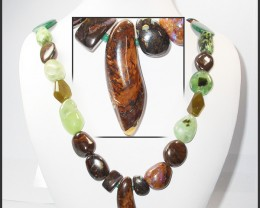 961.95 CTS BOULDER GEMSTONE NECKLACE [SOJ934]