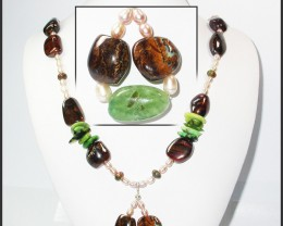 720.10 CTS BOULDER GEMSTONE NECKLACE [SOJ935]