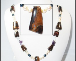 576.55 CTS BOULDER GEMSTONE NECKLACE [SOJ936]