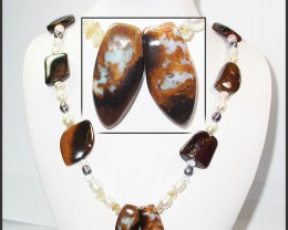 795.35 CTS BOULDER GEMSTONE NECKLACE [SOJ939]