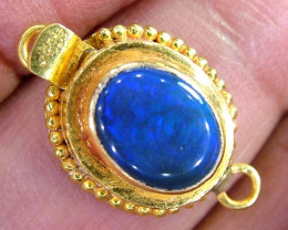 11.40CTS SOLID BLACK OPAL -22K SOLID GOLD CLASP OC-4