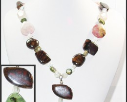 720.60 CTS BOULDER GEMSTONE NECKLACE [SOJ944]