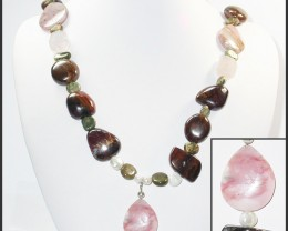749.90 CTS BOULDER GEMSTONE NECKLACE [SOJ945]