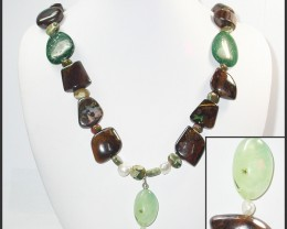 1022.60 CTS BOULDER GEMSTONE NECKLACE [SOJ948]