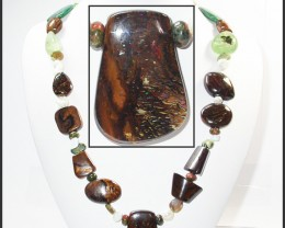 845.90 CTS BOULDER GEMSTONE NECKLACE [SOJ949]