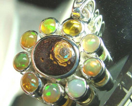34 CTS ETHIOPIAN OPAL SILVER PENDANT  OF-1739