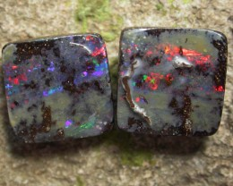 10.25 CTS BOULDER  OPAL PAIR -WELL POLISHED  [MS3229]