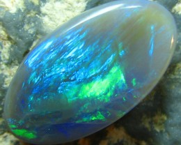 4.80 CTS SOLID SEMI BLACK OPAL LIGHTNING RIDGE NEON COLORS S A8437