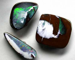 THREE SOLID BOULDER OPALS WHITE CHINA  4.70 CTS GR1638