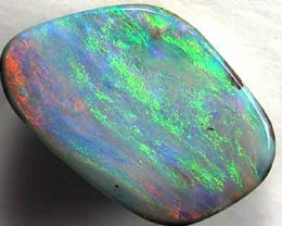 BEAUTIFUL GREEN FLASH FIRE SOLID BOULDER OPAL 2.4 CTS GR1672