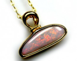 CAPTIVATING SUNSET ORANGE INFERNO BLACK OPAL PENDANT SCO444
