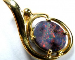 RED FIRE SOLID BOULDER OPAL PENDANT SCO474