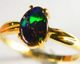 BEAUTIFUL BOULDER OPAL RING SIZE 8 SCO612