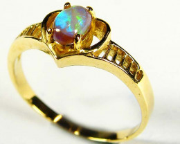 OPAL SET INHEART SHAPE  18K RING SIZE 7 SCO631