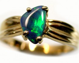 BLACK OPAL 18K GOLD RING SIZE 6 SCO654
