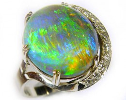 UNIQUE CRYSTAL  OPAL RING,LIGHTING RIDGE COLLECTION SIZE 7 SCO 700