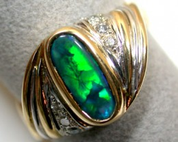 BLACK OPAL 18K YELLOW GOLD-STYLED SCO715A