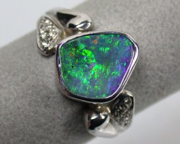 GEM BOULDER OPALFREEFORM  FIRE RING SIZE 8.5 SCO719