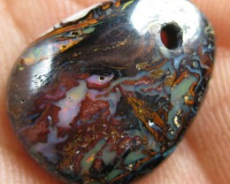 DRILLED PATTERN BOULDER MATRIX OPAL,12.75.CTS.FROM CO.