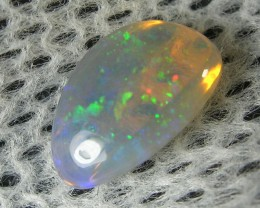 NATURAL DOUBLE SIDED SOLID MULTIFIRE BLACK  CRYSTAL OPAL