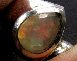 HAND PICKED QUALITY FACETED ETHIOPIAN RING SIZE10.5 CK 381