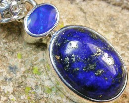 20.00 CTS DOUBLET AND LAPIS PENDANT -FACTORY DIRECT[SOJ954]