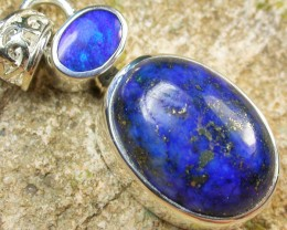 20.00 CTS DOUBLET AND LAPIS PENDANT -FACTORY DIRECT [SOJ959]