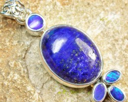 40.50 CTS DOUBLET AND LAPIS PENDANT -FACTORY DIRECT [SOJ965]