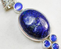 40.50 CTS DOUBLET AND LAPIS PENDANT -FACTORY DIRECT [SOJ969]