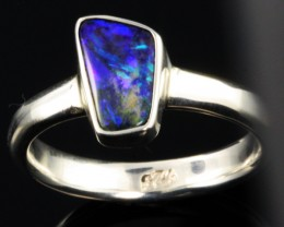 BOULDER OPAL RING--FACTORY DIRECT -RING SIZE 7.5 [SOJ1068]SH