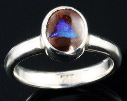 BOULDER OPAL RING--FACTORY DIRECT -RING SIZE 7.5 [SOJ1070]