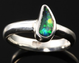 BOULDER OPAL RING--FACTORY DIRECT -RING SIZE 6.5 [SOJ1071]SH