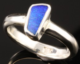 BOULDER OPAL RING--FACTORY DIRECT -RING SIZE 6.5 [SOJ1077]SH
