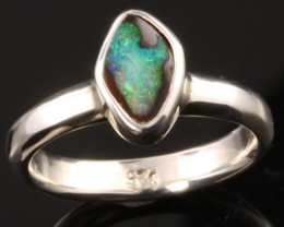 BOULDER OPAL RING--FACTORY DIRECT -RING SIZE 6.5 [SOJ1078]SH