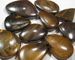 10 Pieces - All Drilled Boulder matrix Opals.