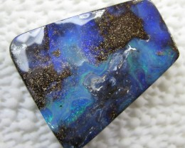 DRILLED LARGE BOULDER OPAL PENDANT STONE,72.70.CTS.FROM CO