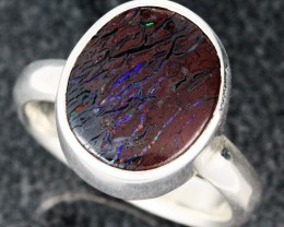 RING SIZE 6.5 KOROIT OPAL RING-FACTORY DIRECT [SOJ1115]