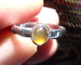 OPAL GEMSTONE SILVER FASHION RING SIZE 6.25