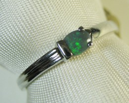 SOLID OPAL 925 SILVER RING SIZE #QR/151