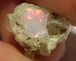 7.30ct WONDERFUL ETHIOPIAN WELLO CRYSTAL ROUGH GEM OPAL RED FIRE