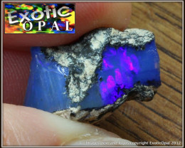 $1~10.5c BLUE DENDRITIC CRYSTAL WELO,ET ROUGH EXOTICOPAL~NR