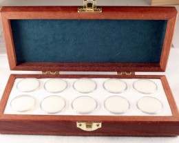 Opal & Gemstone Presentation Case,holds 10 Gems