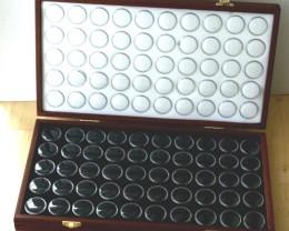 Opal & Gemstone Display Case with 100 Gem Jars (JSl-50