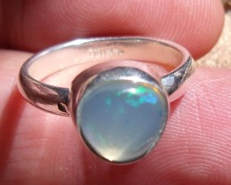 OPAL GEM & SILVER RING SIZE 6.25