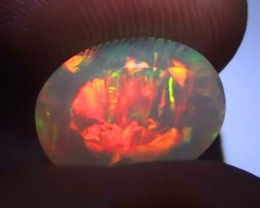 AAA+ Big Extreme Red Fire Welo Gem Facet 3.90ct WO883