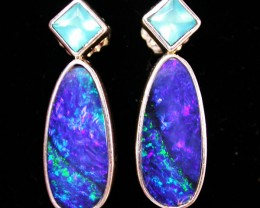 22.20 CTS DOUBLET EARRING/CHALCENDONY-FACTORY DIRECT SOJ1160