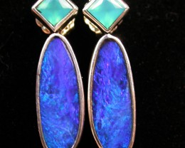 19.20 CTS DOUBLET EARRING/CHALCENDONY-FACTORY DIRECT SOJ1167