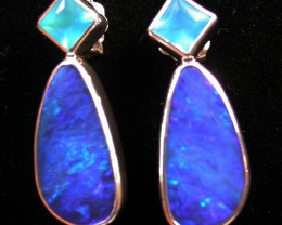 19.95 CTS DOUBLET EARRING/CHALCENDONY-FACTORY DIRECT SOJ1170