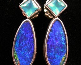 17.15 CTS DOUBLET EARRING/CHALCENDONY-FACTORY DIRECT SOJ1171