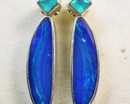 29.10 CTS DOUBLET EARRING/CHALCENDONY-FACTORY DIRECT SOJ1173